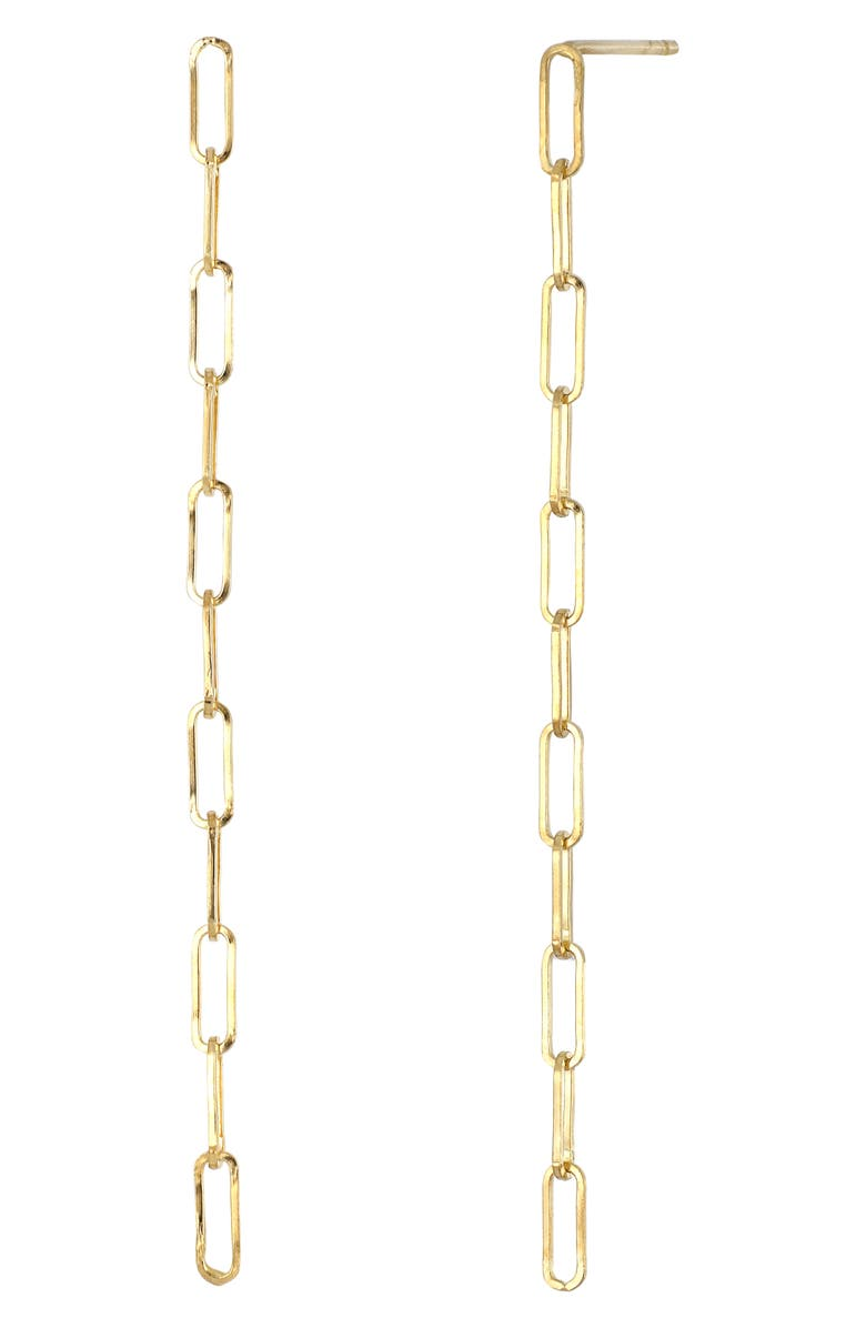 BONY LEVY 14K Gold Long Chain Earrings, Main, color, YELLOW GOLD
