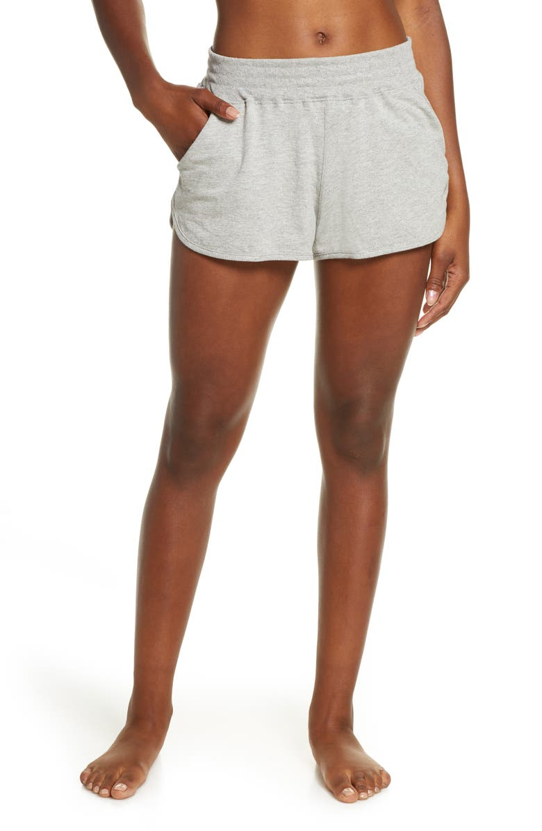 FREE PEOPLE MOVEMENT Free People FP Movement Sting like a Bee Shorts, Main, color, GREY