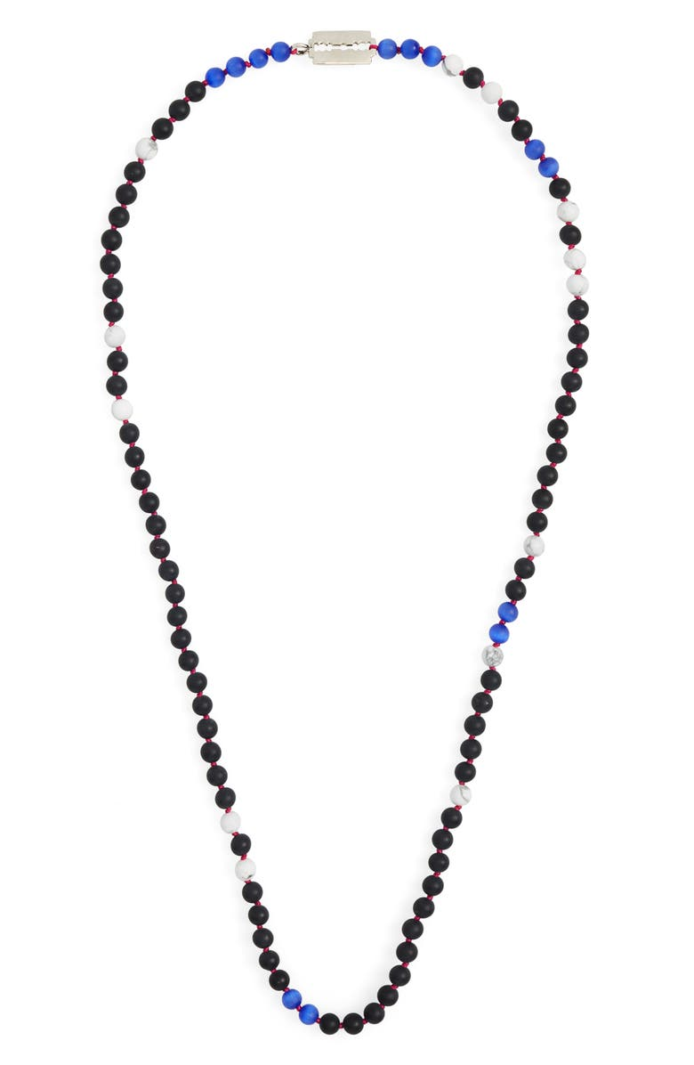 JONAS STUDIO Handknotted Bead Necklace, Main, color, BLACK