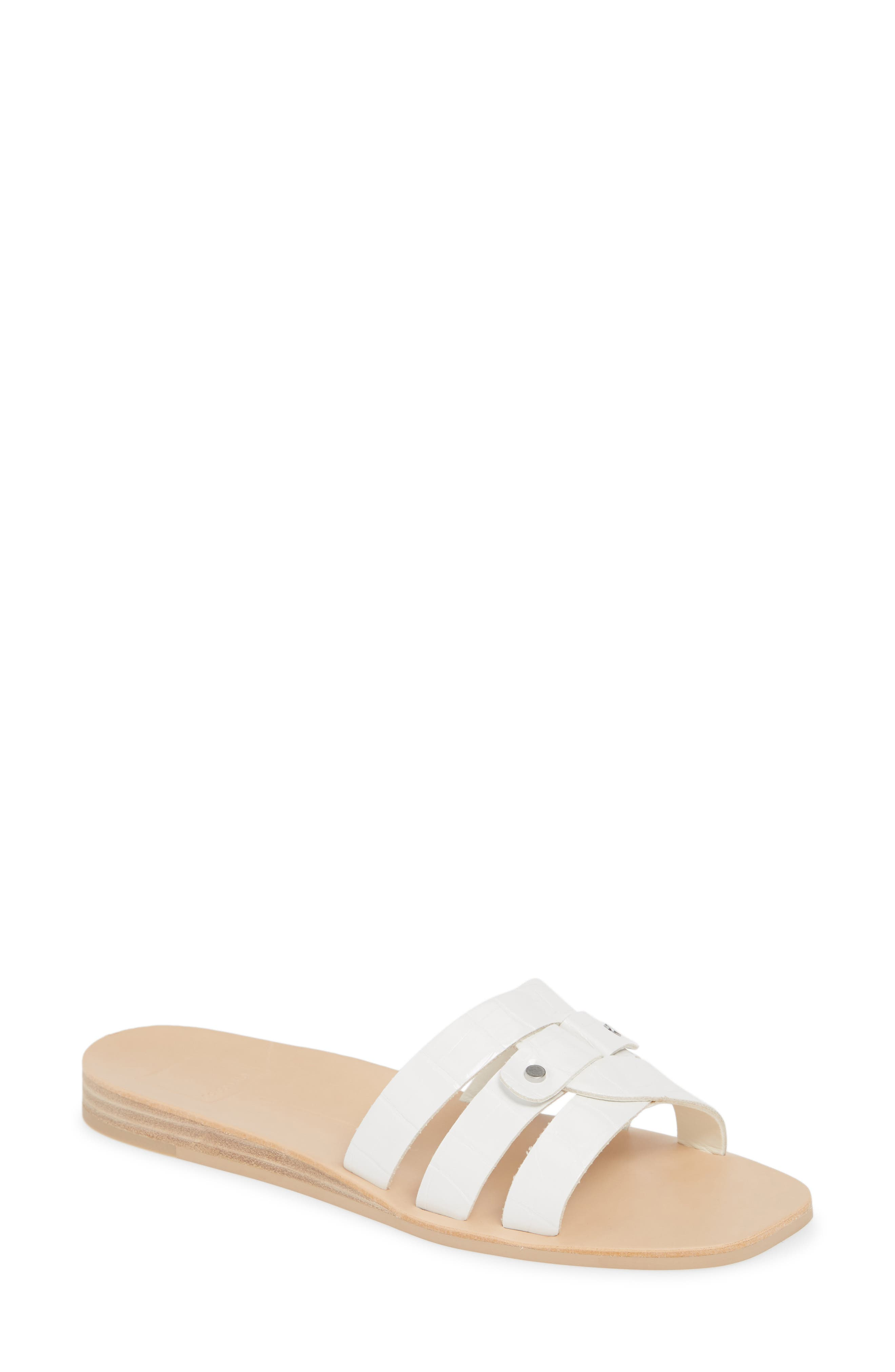 Dolce Vita Cait Slide Sandal- White