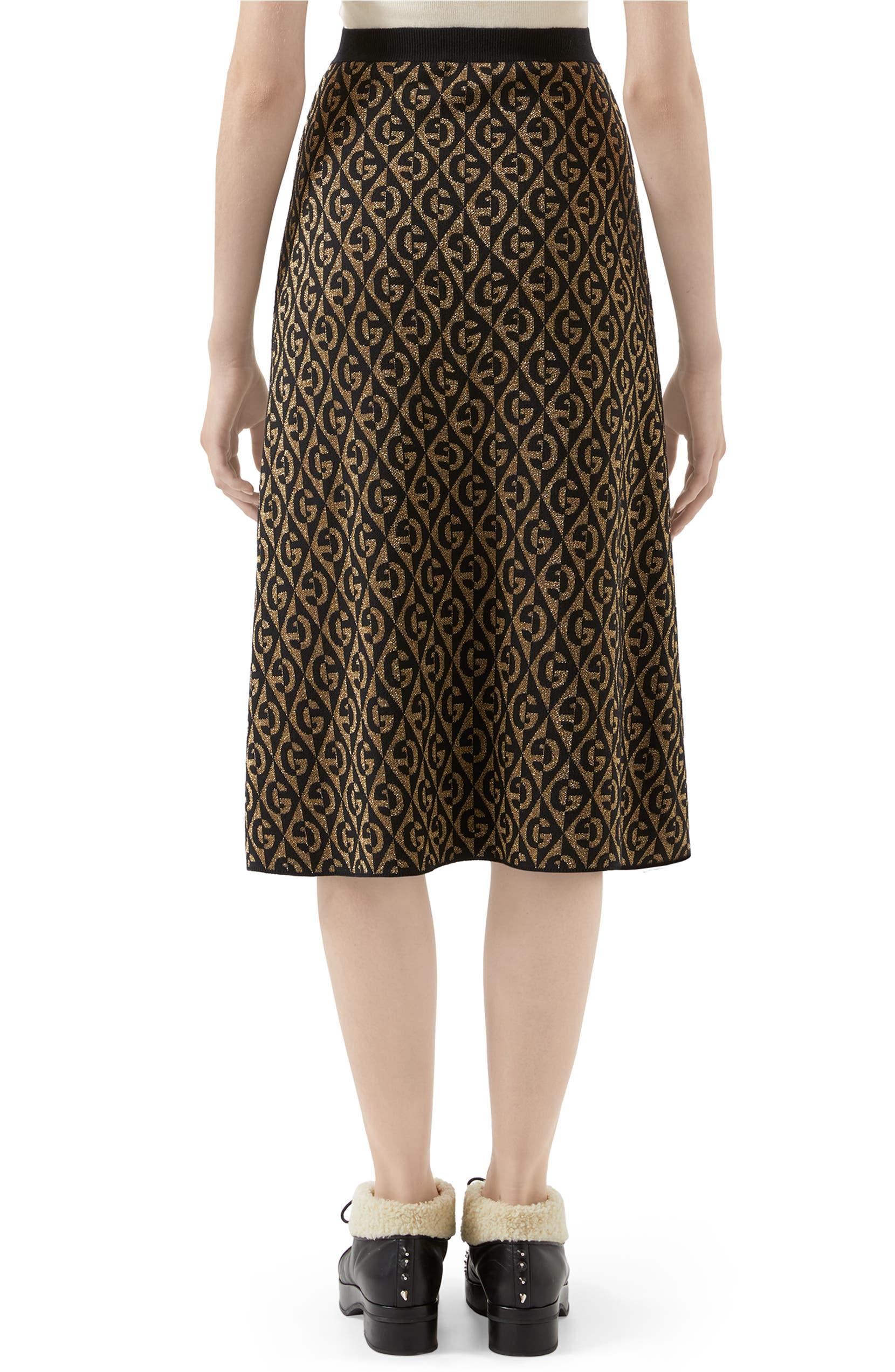 b1383236a1 Gucci GG Rhombus Jacquard Wool Sweater Skirt | Nordstrom
