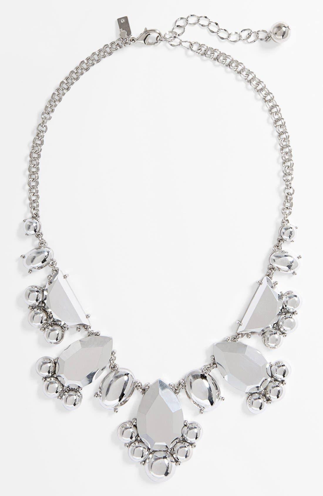 'day tripper' metallic bib necklace, Main, color, 040