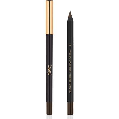 Yves Saint Laurent Dessin Du Regard Waterproof Eyeliner Pencil - 02 Brown