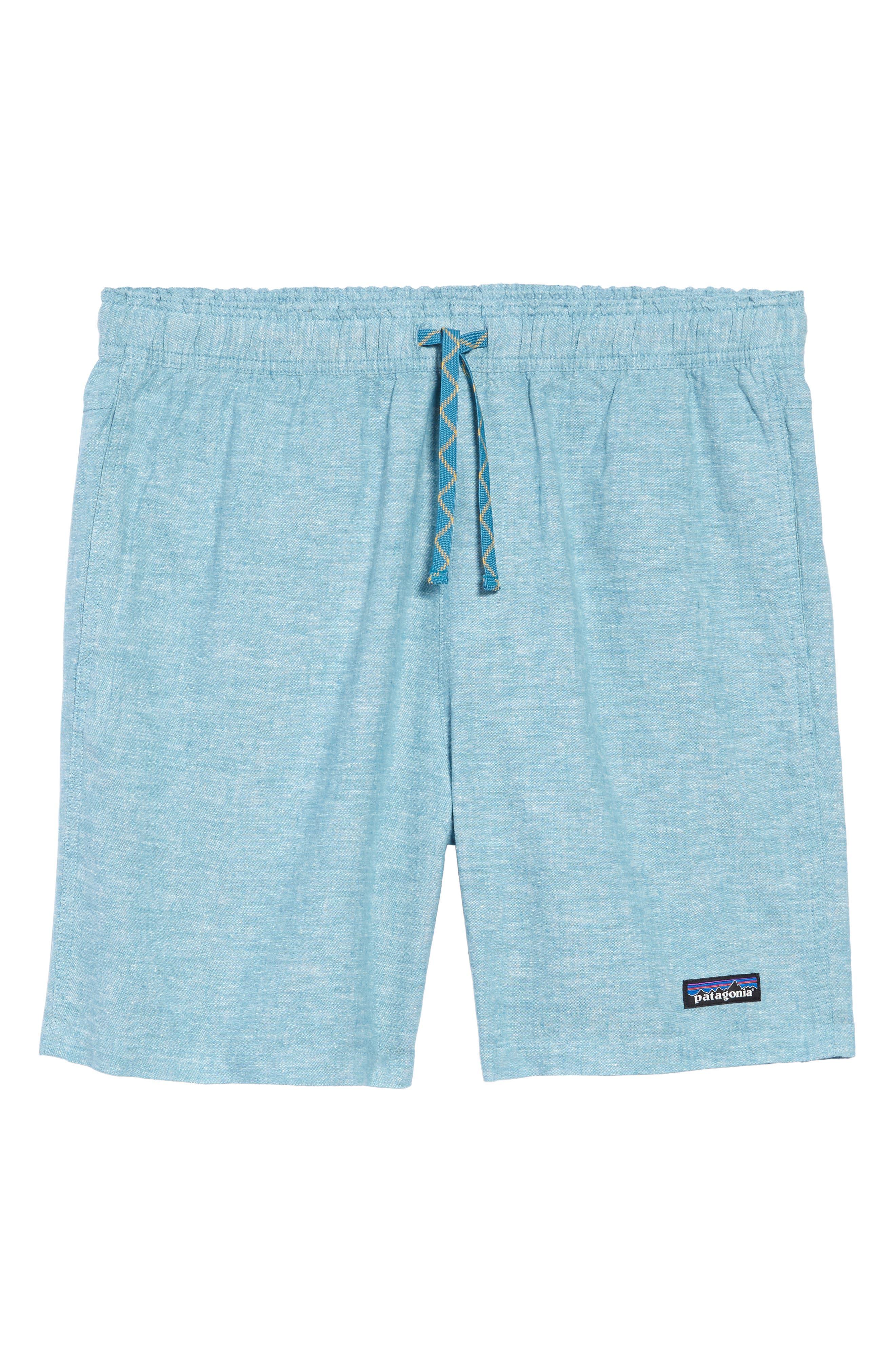 Patagonia Baggies Natural Hemp Blend Shorts, Blue