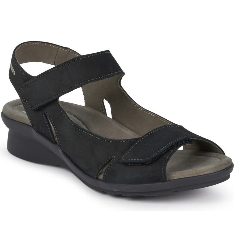 MEPHISTO Perry Sandal, Main, color, BLACK NUBUCK