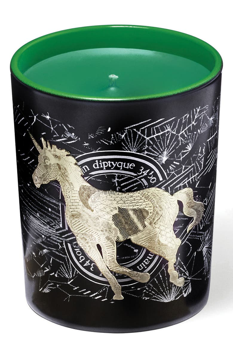 DIPTYQUE Frosted Forest Unicorn Scented Candle, Main, color, 000