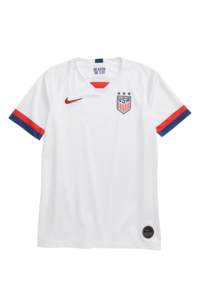 NIKE USA Stadium Jersey, Main, color, WHITE/ BLUE/ UNIV RED