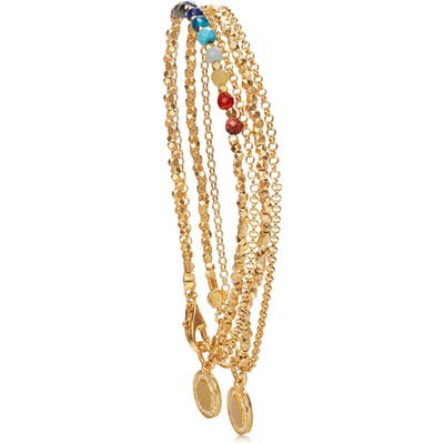 Astley Clarke 18K Gold Rainbow Double Cosmos Stack Bracelet