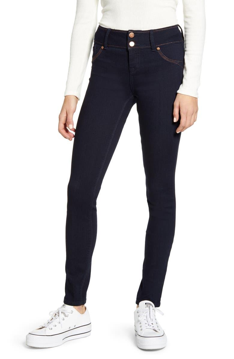 1822 DENIM Flex Skinny Jeans, Main, color, RINSE