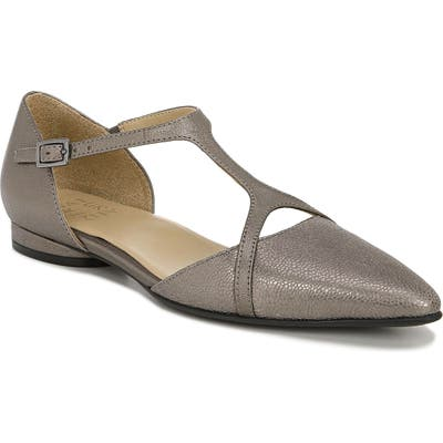 Naturalizer Hana Pointy Toe Flat, Metallic