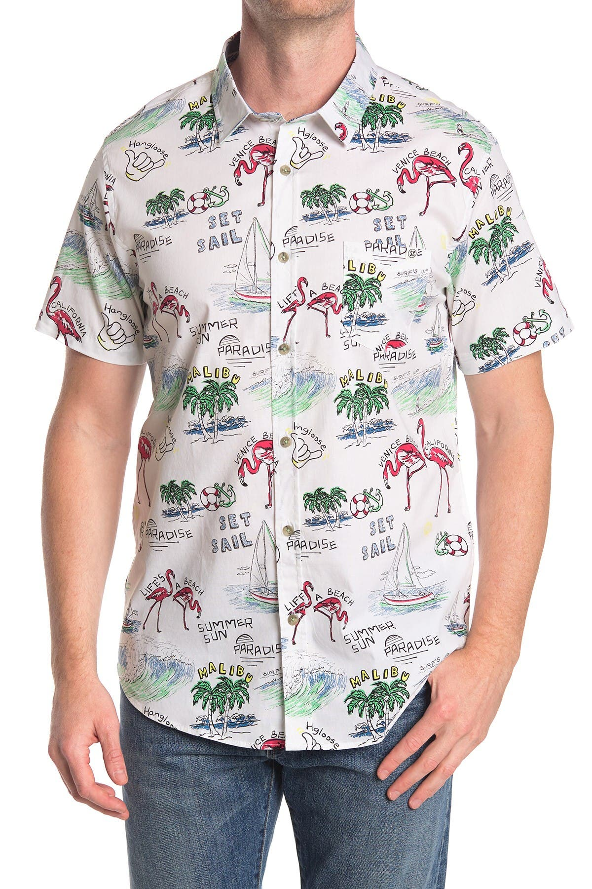 Image of Sovereign Code Big Sun Button-Down Shirt