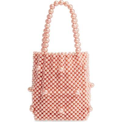 Rachel Parcell Mini Beaded Top Handle Bag - Pink (Nordstrom Exclusive)