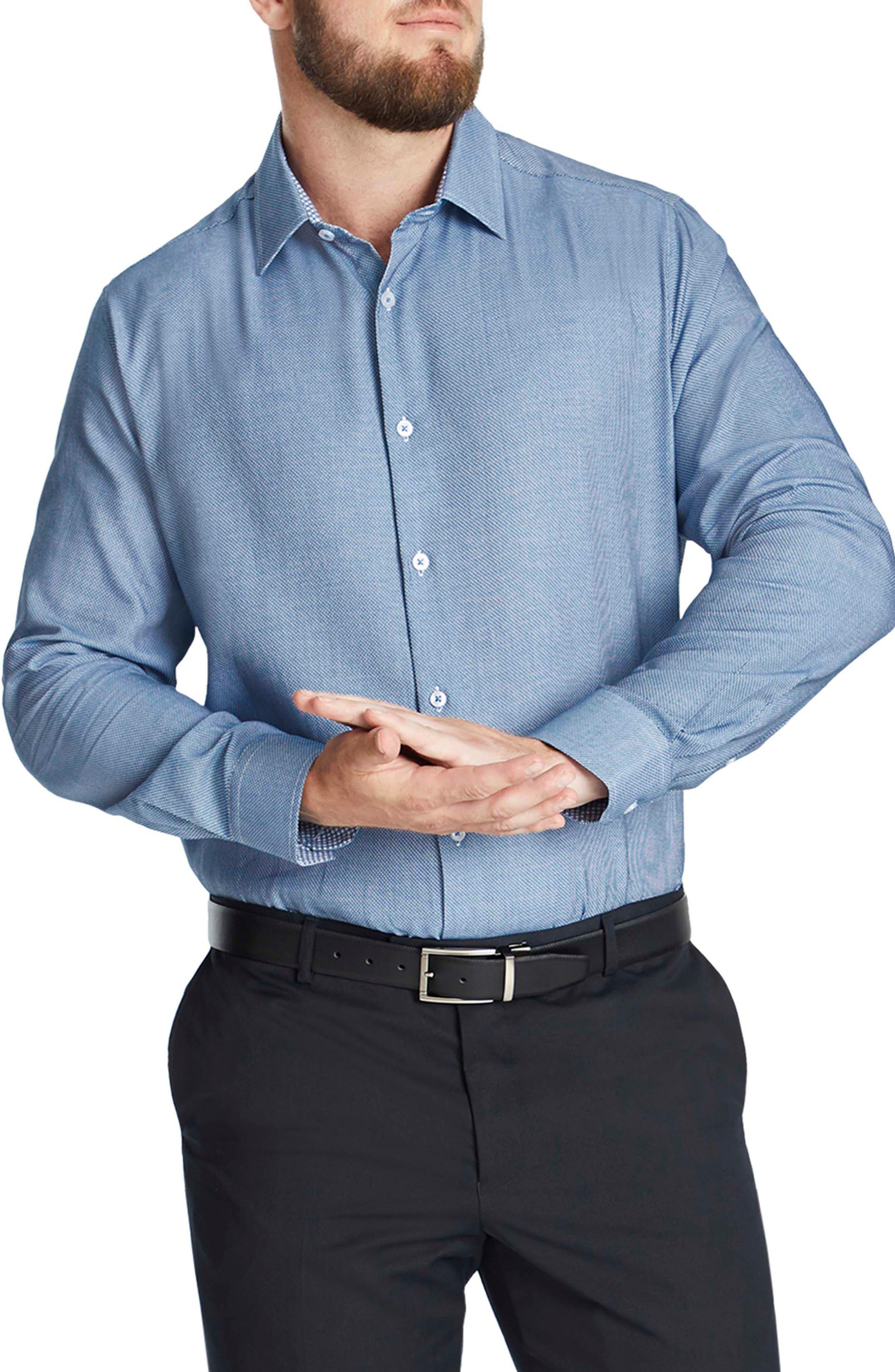 Lawrence Regular Fit Jacquard Button-Up Shirt