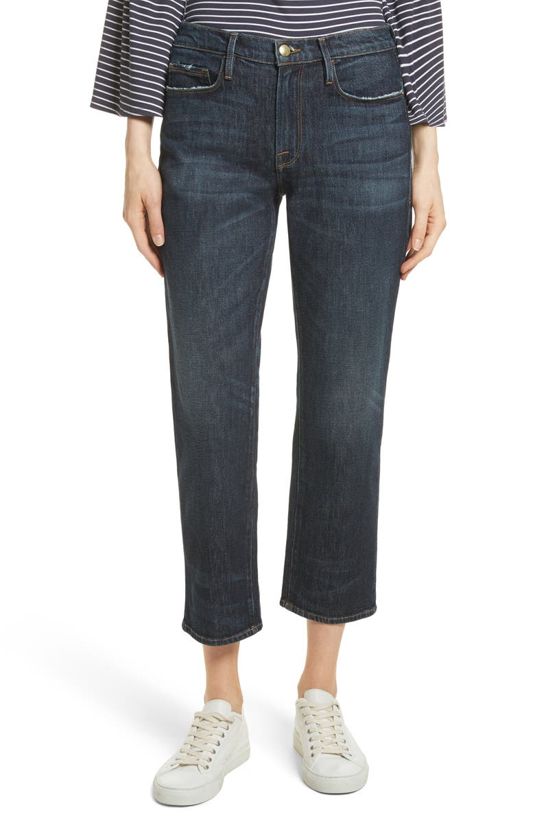 FRAME Straight Leg Ankle Jeans, Main, color, 402