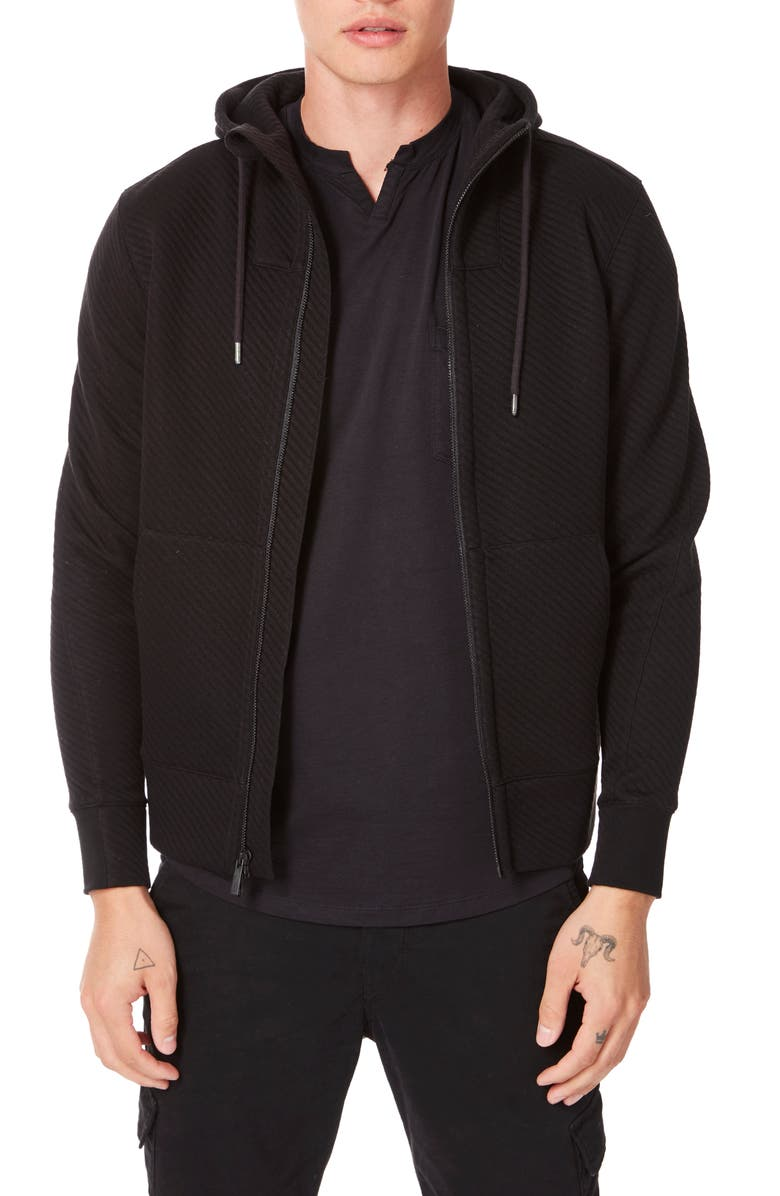 GOOD MAN BRAND Pro Slim Fit Zip Hoodie, Main, color, 001