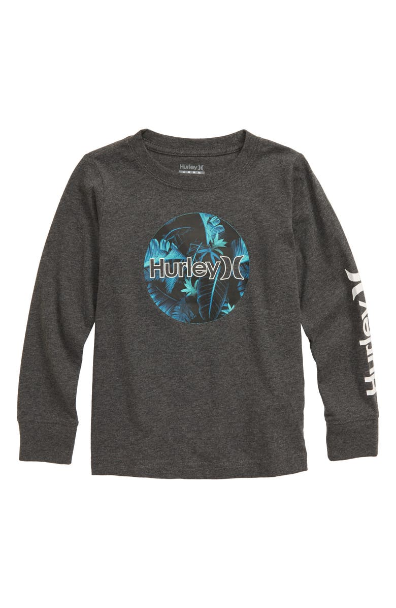 HURLEY Camo Fill Long Sleeve T-Shirt, Main, color, CHARCOAL HEATHER