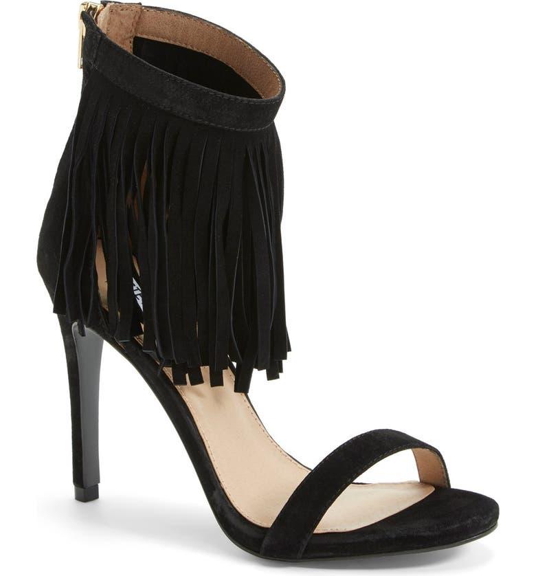 1ad72e775ba 'Staarz' Ankle Fringe Sandal