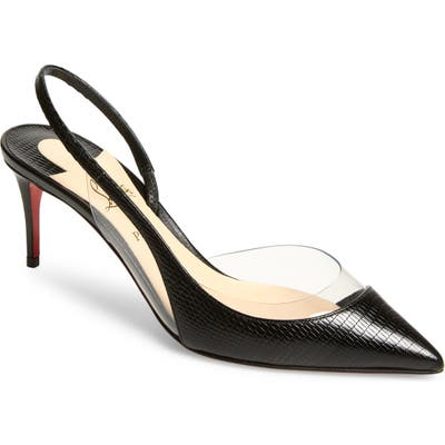Christian Louboutin Optisexy Clear Slingback Pump - Black