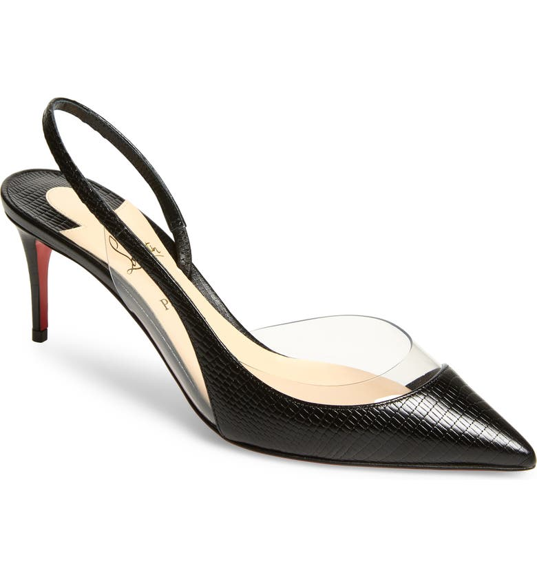 CHRISTIAN LOUBOUTIN Optisexy Clear Slingback Pump, Main, color, BLACK