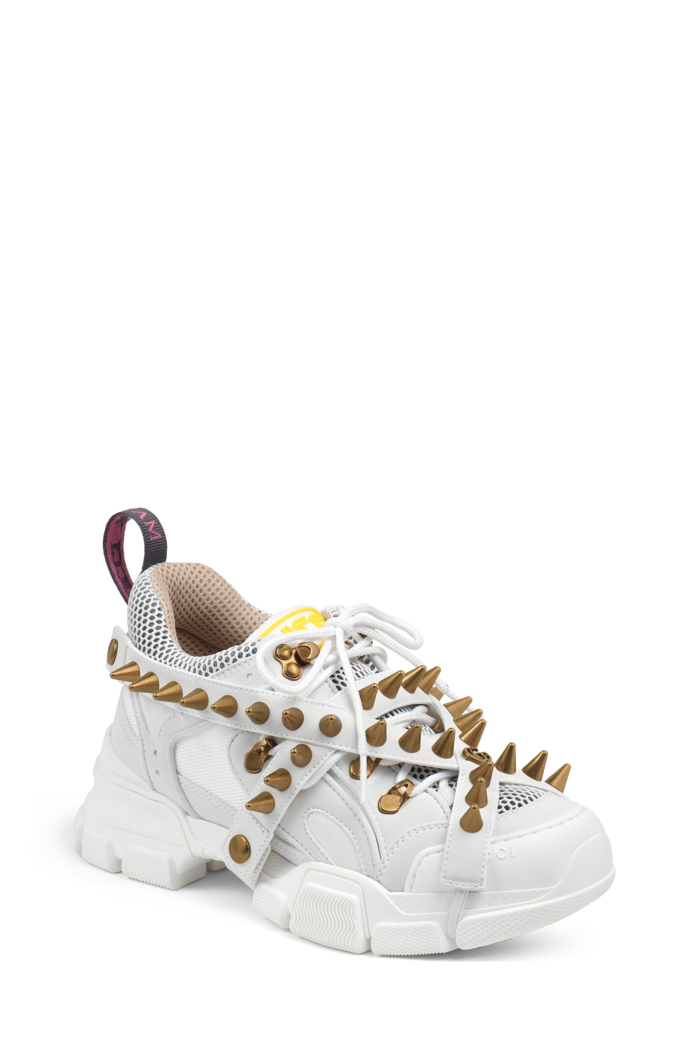 Gucci Flashtrek Spike Sneaker - White