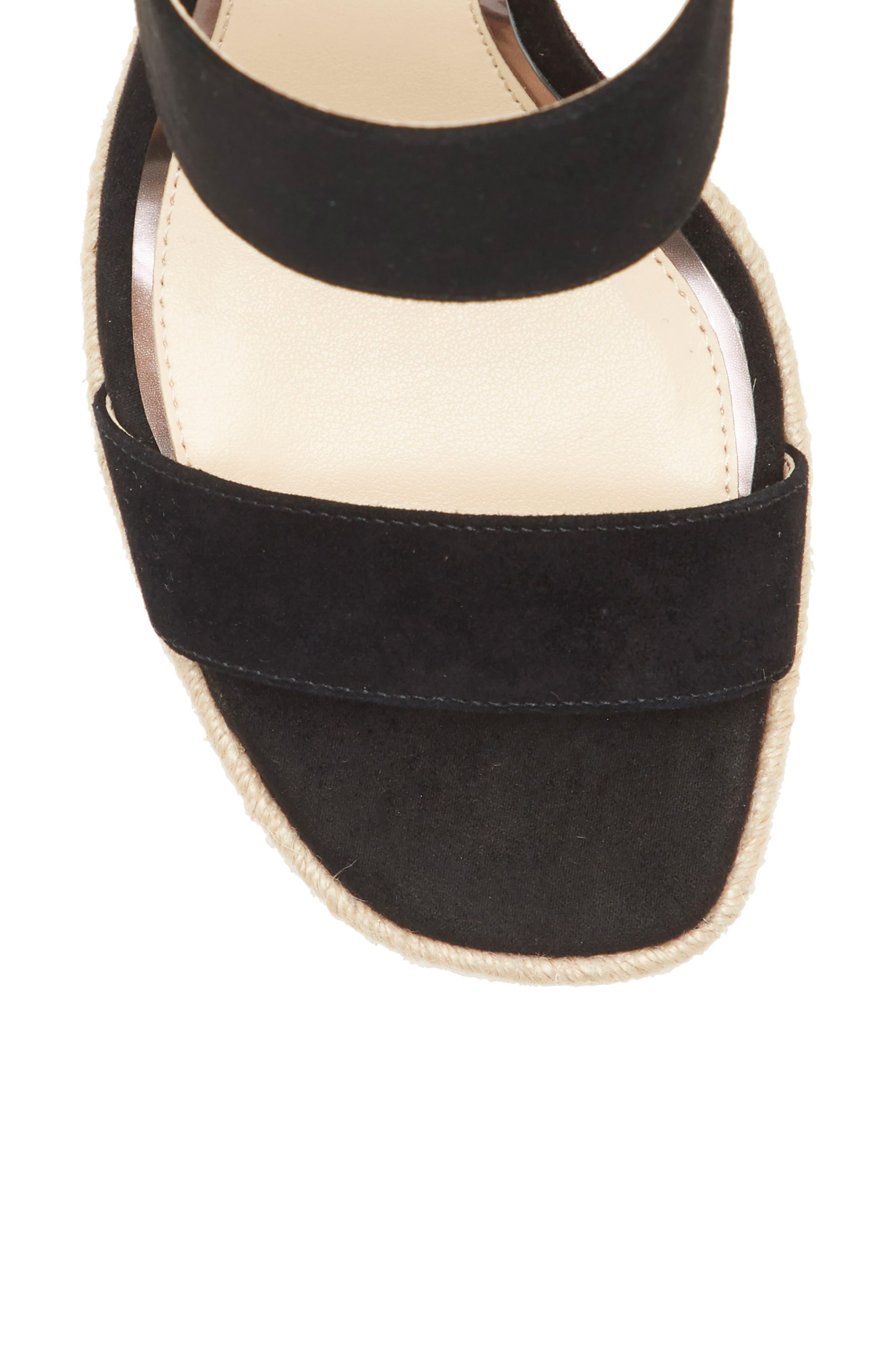 ,                             Siera Espadrille Wedge Slide Sandal,                             Alternate thumbnail 8, color,                             BLACK