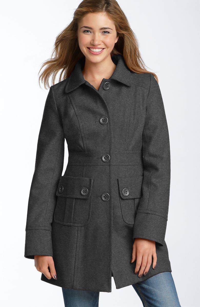 TULLE Wool Blend Walking Coat, Main, color, 020