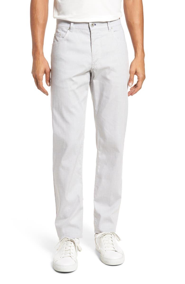 BRAX Sensation Straight Leg Stretch Dress Pants, Main, color, WHITE/ WHITE
