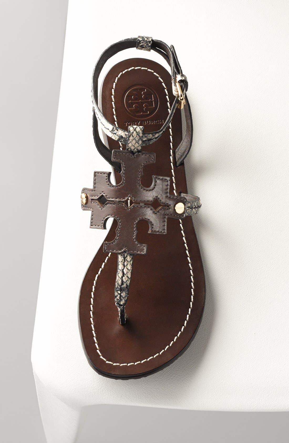 ,                             'Chandler' Leather Sandal,                             Alternate thumbnail 5, color,                             200