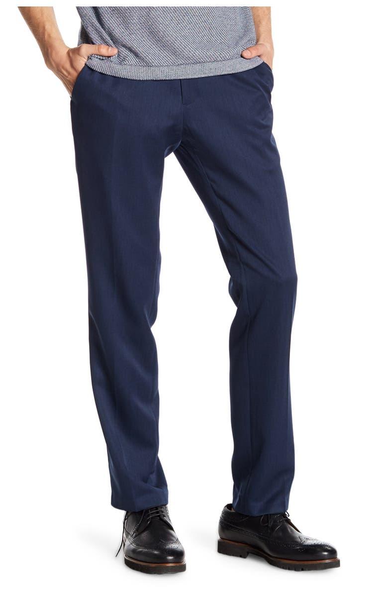 "REACTION KENNETH COLE Urban Heather Slim Dress Pants - 29-34"" Inseam, Main, color, BLUE"