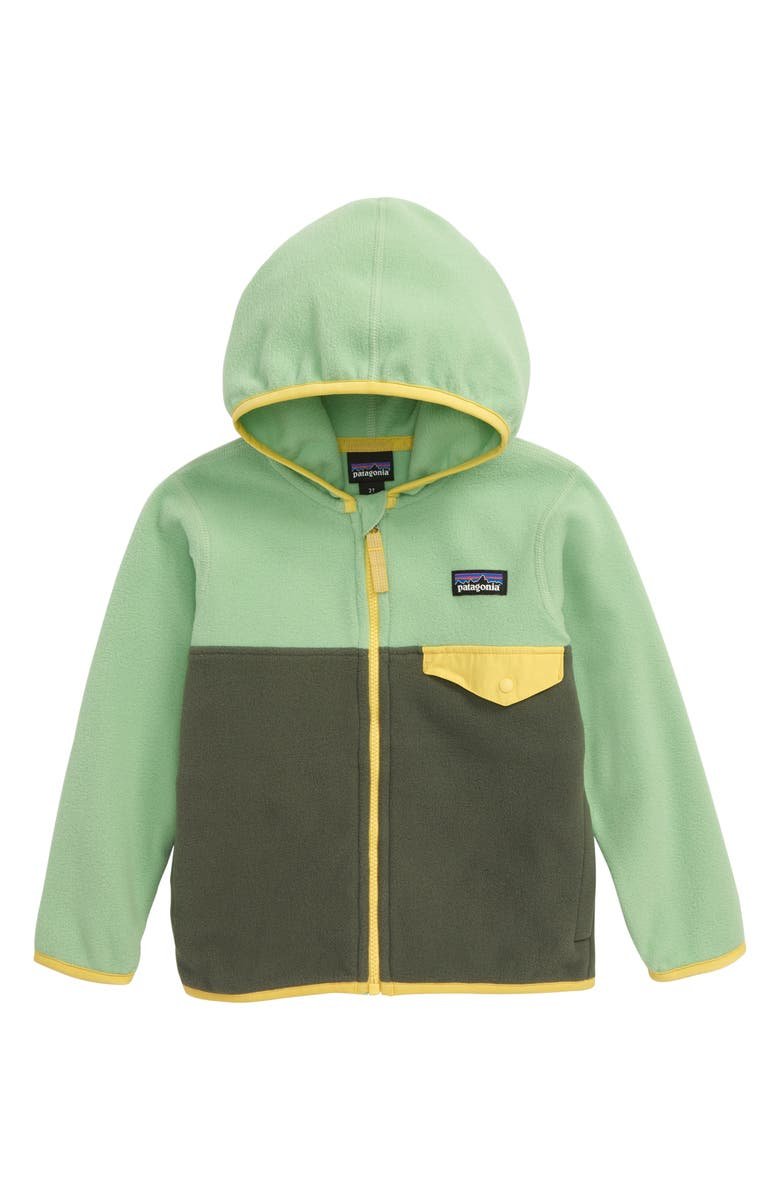PATAGONIA Micro D<sup>®</sup> Snap-T<sup>®</sup> Fleece Jacket, Main, color, KALE GREEN