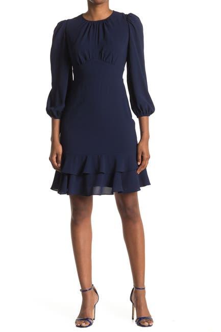 Image of London Times Catalina Tiered Hem Dress