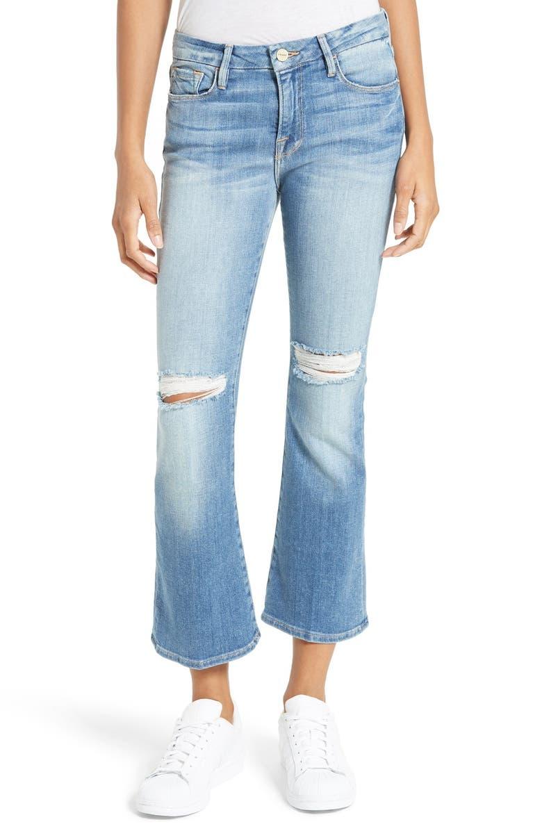 FRAME Le Crop Mini Boot Jeans, Main, color, 421