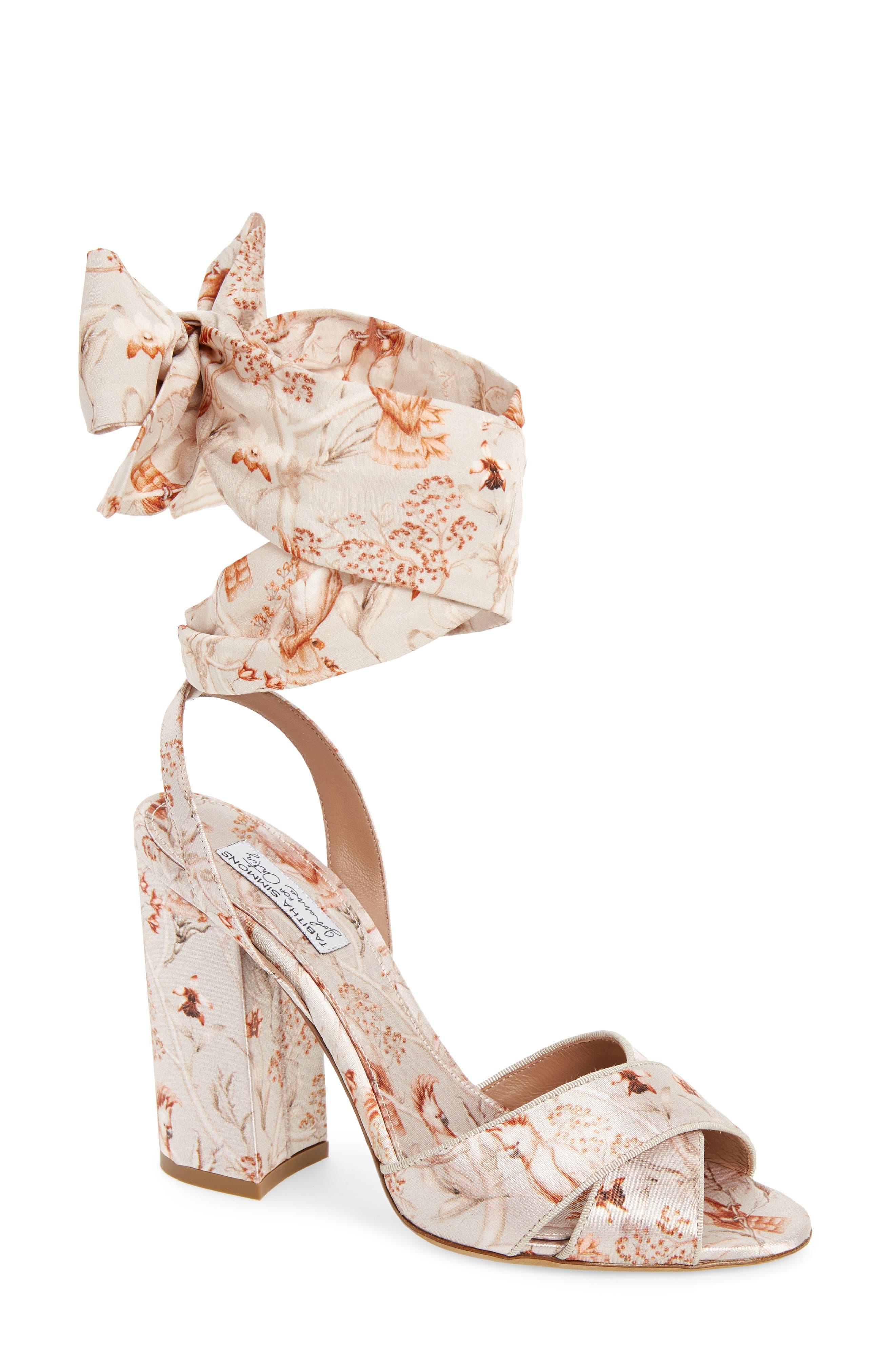 Tabitha Simmons Connie Wrap Lace-Up Sandal, Beige