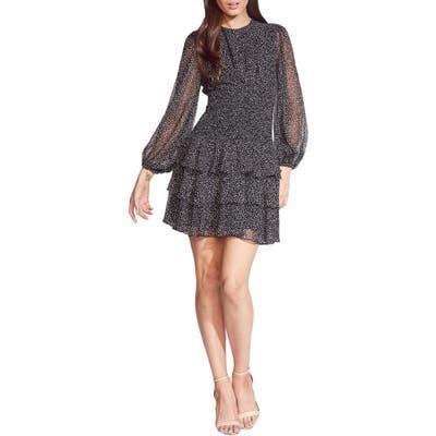 Bardot Elaina Long Sleeve Minidress, Black