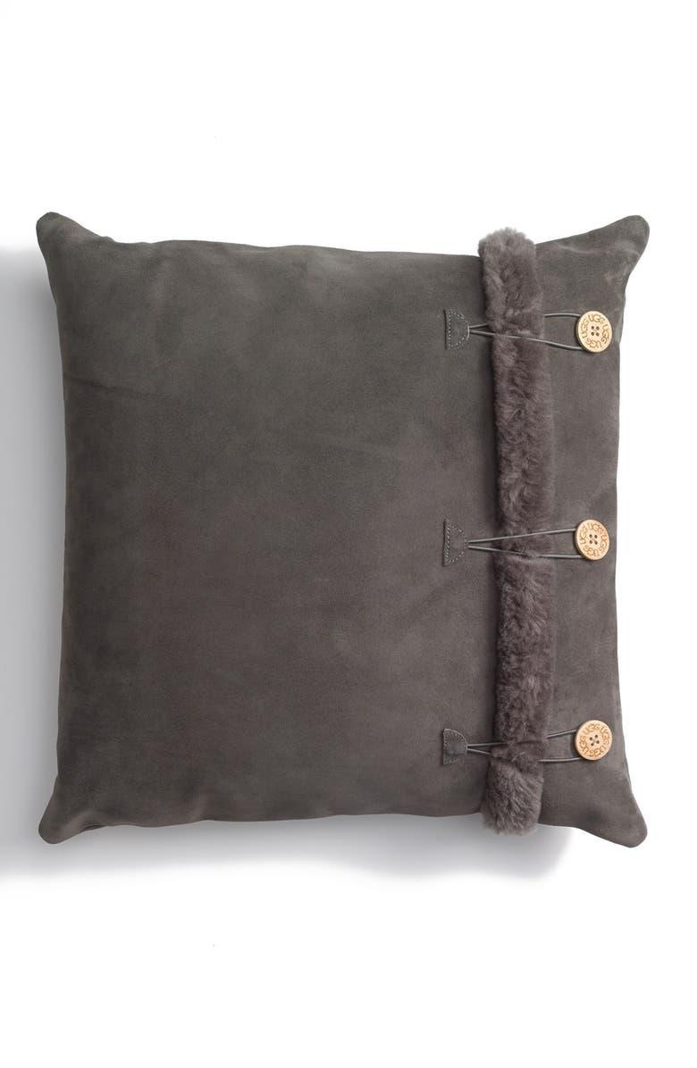 UGG<SUP>®</SUP> Bailey Button Pillow, Main, color, GREY