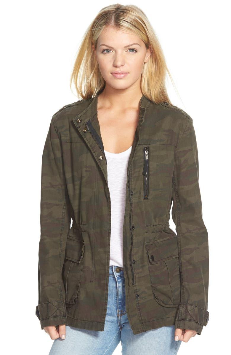 SANCTUARY 'Civilian' Camo Print Jacket, Main, color, 300