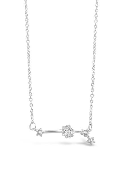 Image of Sterling Forever Delicate Constellation CZ Aries Zodiac Pendant Necklace