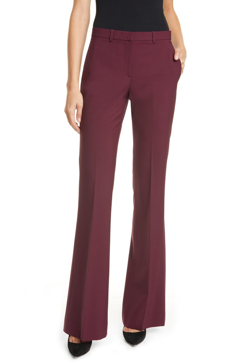 THEORY Demitria 2 Stretch Good Wool Suit Pants, Main, color, MULBERRY
