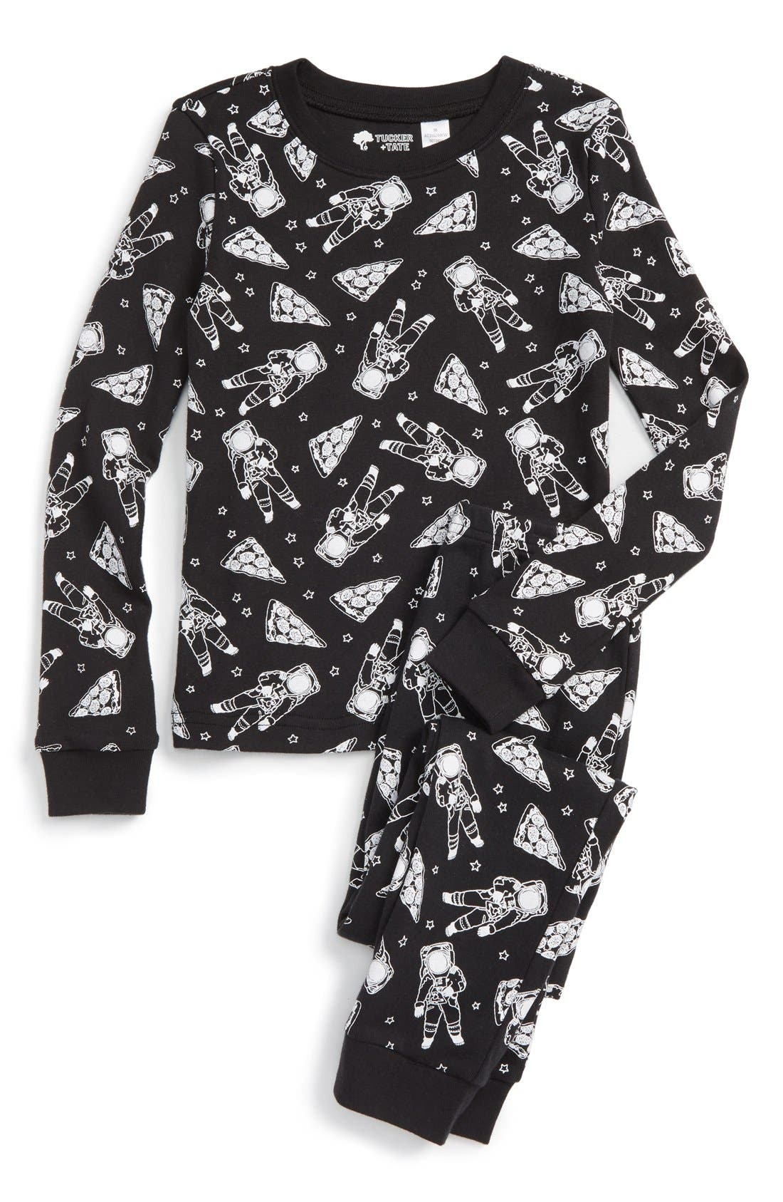 ,                             Fitted Two-Piece Pajamas,                             Main thumbnail 19, color,                             001