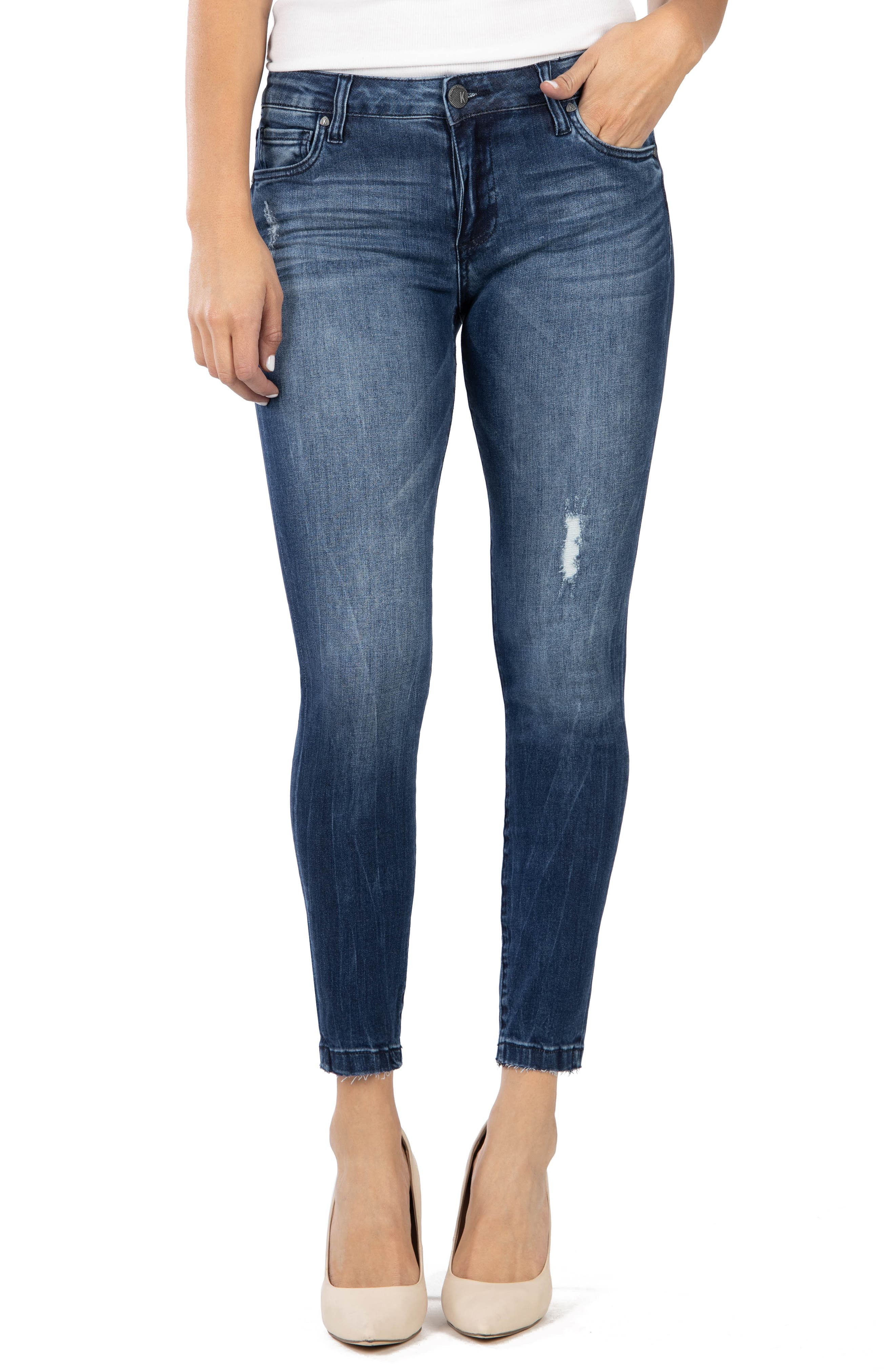 KUT from the Kloth Donna Ankle Skinny Jeans (Daydream) (Regular & Petite)