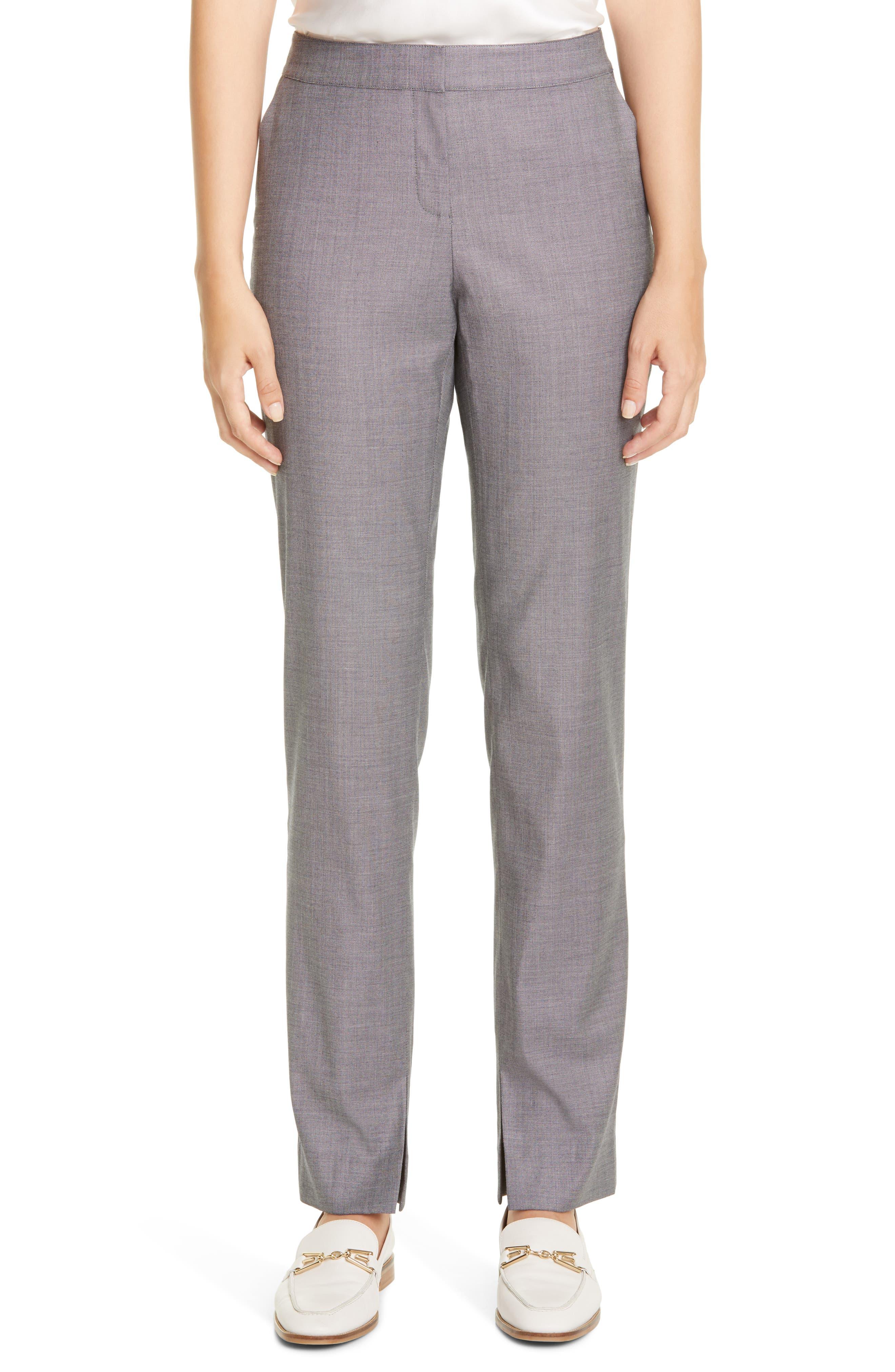 Image of Lafayette 148 New York Waldorf Slit Hem Slim Pants