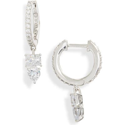 Nadri Eliza Huggie Hoop Earrings