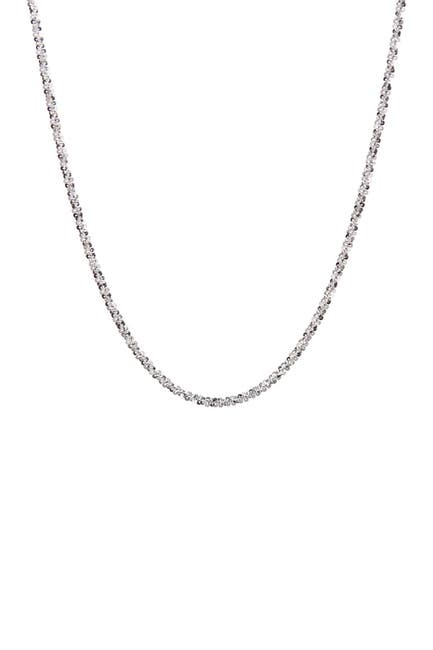Image of Best Silver Inc. Sterling Silver Twisted Chain Necklace