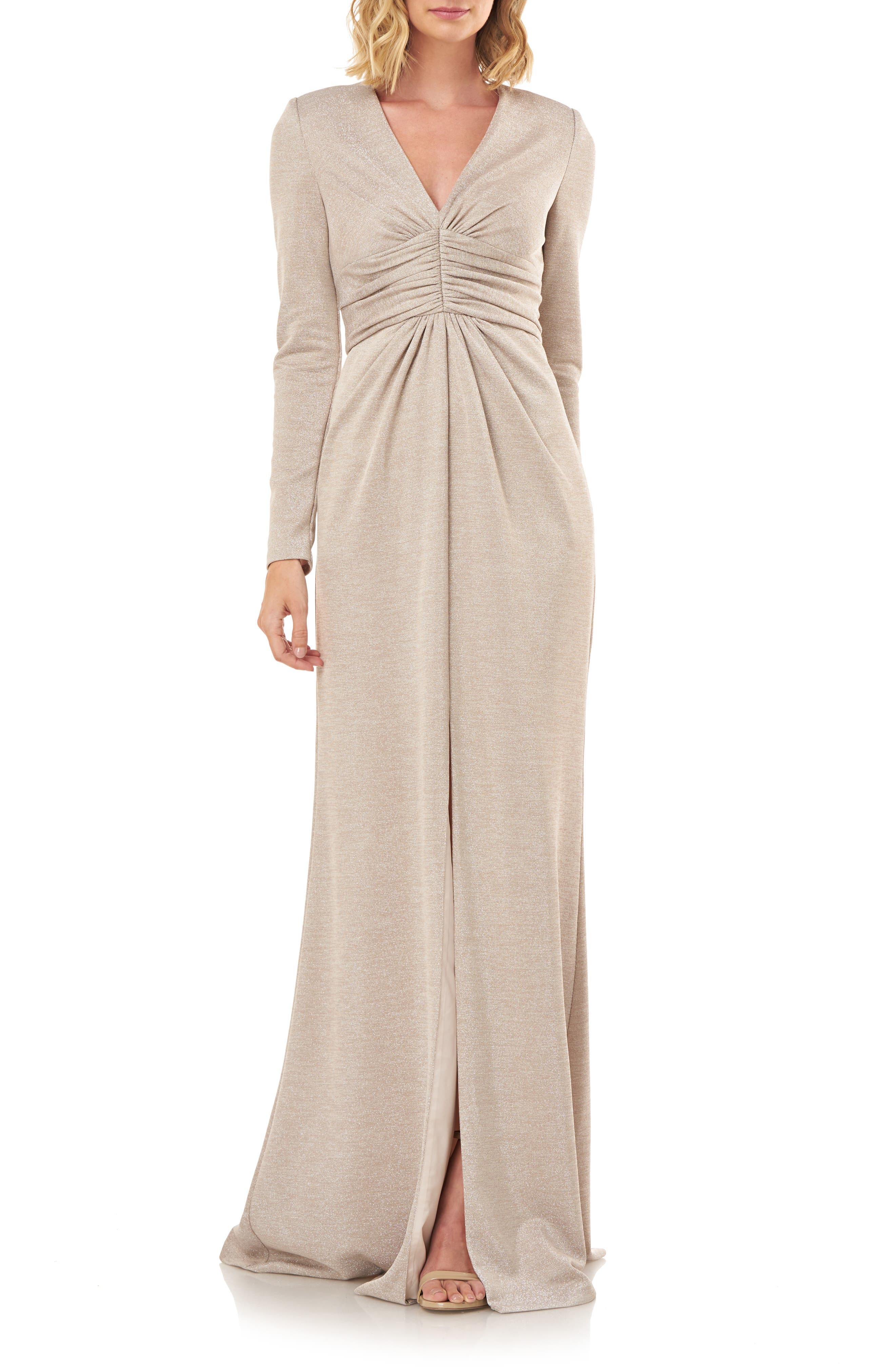 70s Prom, Formal, Evening, Party Dresses Womens Kay Unger Kayla Long Sleeve Evening Gown $288.00 AT vintagedancer.com