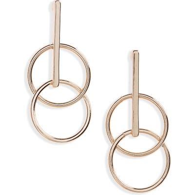 Bp. Double Circle Bar Drop Earrings