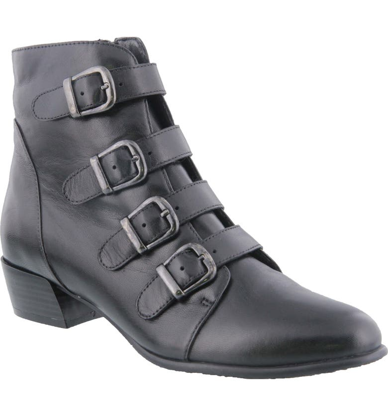 SPRING STEP Rebeca Boot, Main, color, BLACK LEATHER