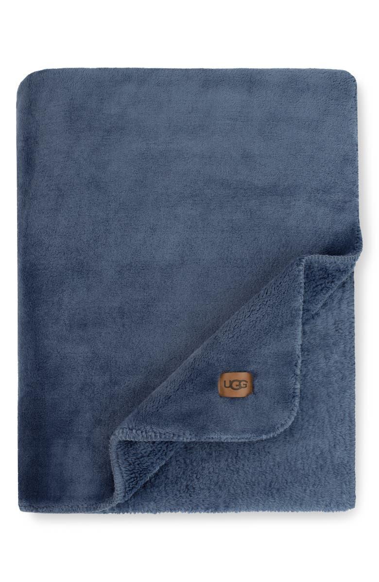 UGG<SUP>®</SUP> Whistler Throw Blanket, Main, color, DENIM