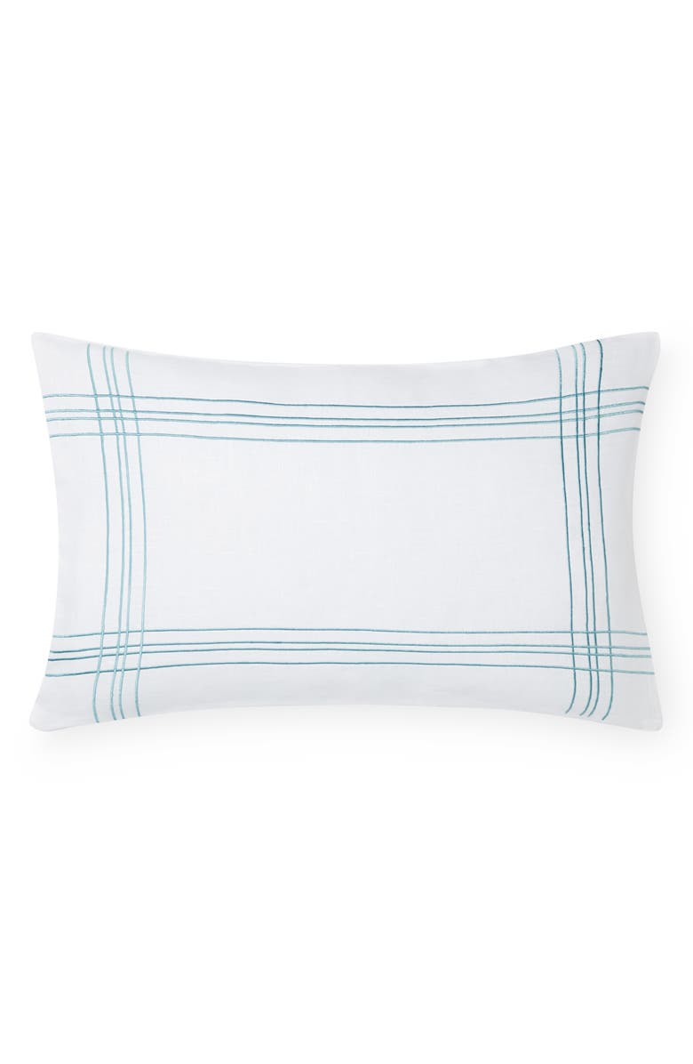 SFERRA Chianni Accent Pillow, Main, color, WHITE/AQUAMARINE