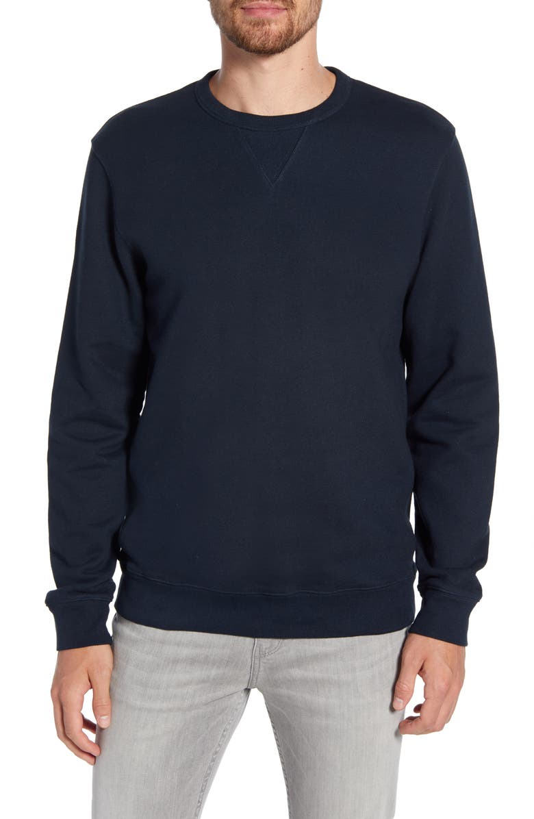 PAIGE Brysen Regular Fit Crewneck Sweatshirt, Main, color, DEEP ANCHOR