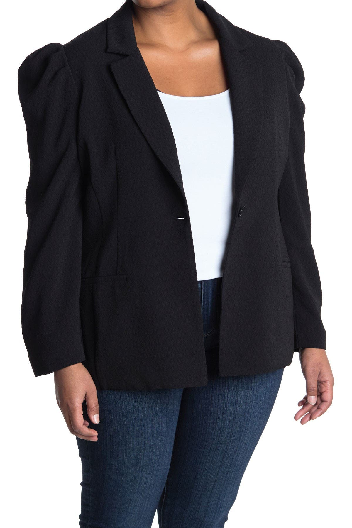 Image of ASTR the Label Puff Sleeve Blazer